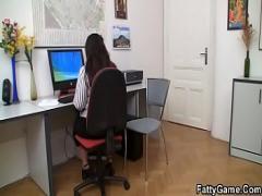 Good sensual video category big_tits (388 sec). Office plumper fucks her client.