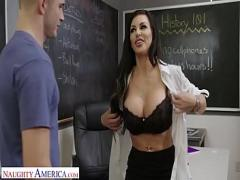 Free video category stockings (769 sec). Naughty America Michelle Miller (Melissa Lynn) shows off her tats and tits.