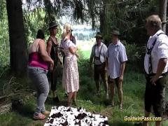 XXX video category orgy (781 sec). wild german outdoor fuck orgy.