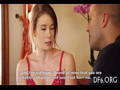Sexy porno category teen (301 sec). Defloration clip.