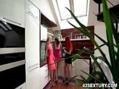 XXX youtube video category lesbian (375 sec). Naughty lesbian threesome - Antonia Sainz, Victoria Pure and Charlie Red.