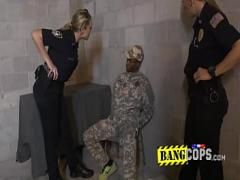 Free porno category big_tits (301 sec). Perverted milf cops get their muffins popped by shady soldier.