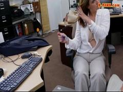 Sexy movie category blowjob (372 sec). Bigtits business lady nailed by pawn man in the backroom.