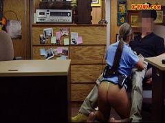 Cool video category latina (372 sec). Big tits police officer gets her twat nailed by pawn keeper.