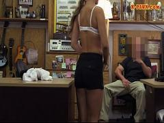 18+ seductive video category blonde (372 sec). Lovely amateur blonde waitress screwed at the pawnshop.